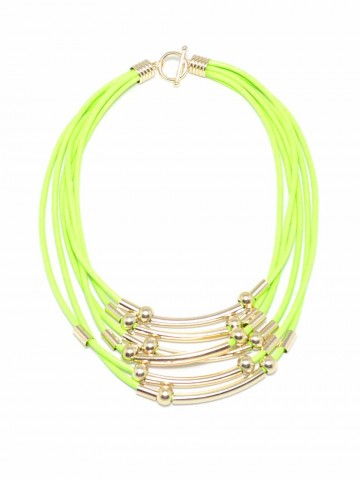 Bollywood Star Necklace Lime