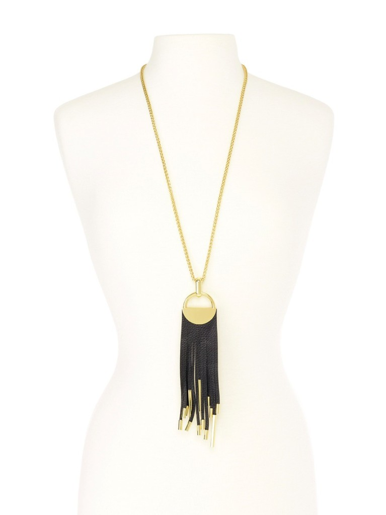 Midnight Tassel Necklace Black 3
