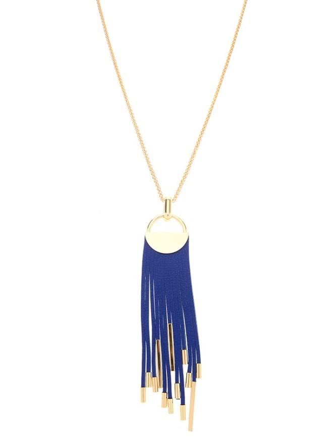 Midnight Tassel Necklace Cobalt