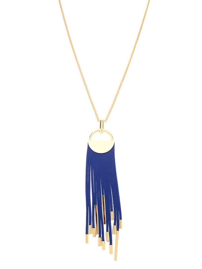 Midnight Tassel Necklace Cobalt