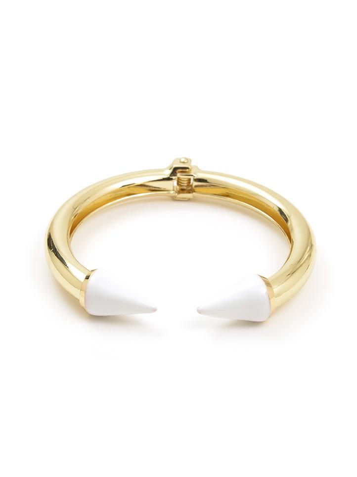 Spike Cuff, White & Gold