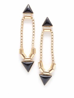 Arrow Margin Earrings, $18.40