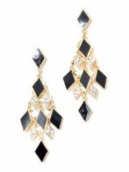Black Chandelier Earrings, $27.95