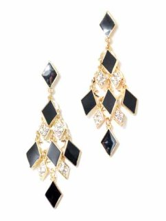 Black Chandelier Earrings, $27.95