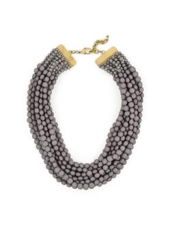 Tessa Beaded Necklace, Gray
