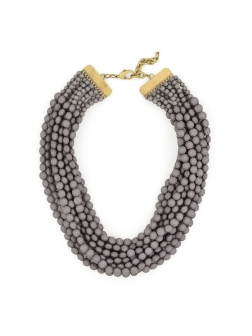 Tessa Beaded Necklace, Gray