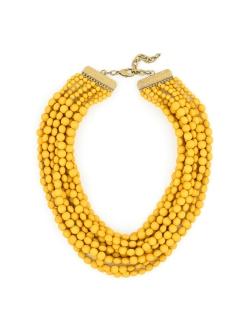 Tessa Beaded Necklace, Honey