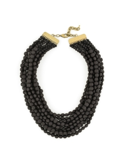 Tessa Beaded Necklace, Black