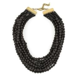Tessa Beaded Necklace, Black
