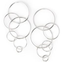 Fay Earrings, Silver
