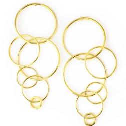 Fay Earrings, Gold