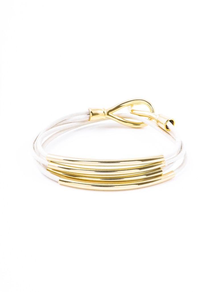 Piper Wrap Bracelet, White
