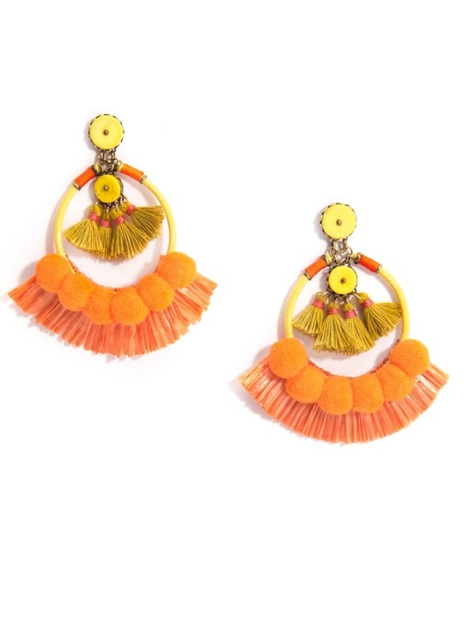 Deja Earrings, Tangerine 1
