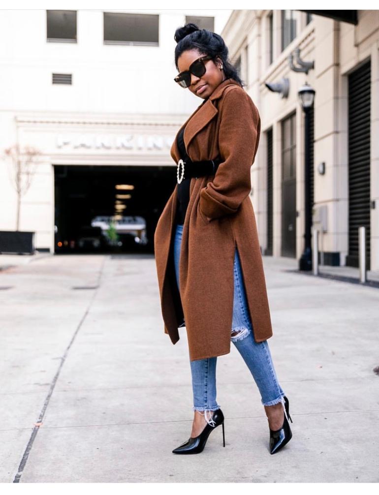 Camille K Belted Coat Look