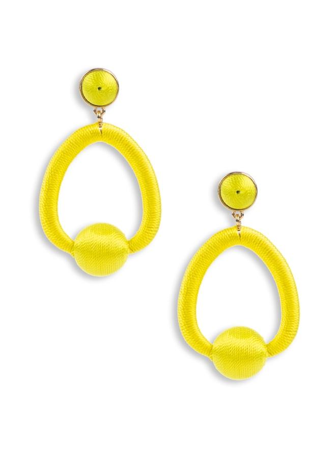 Ginny Earrings - Yellow