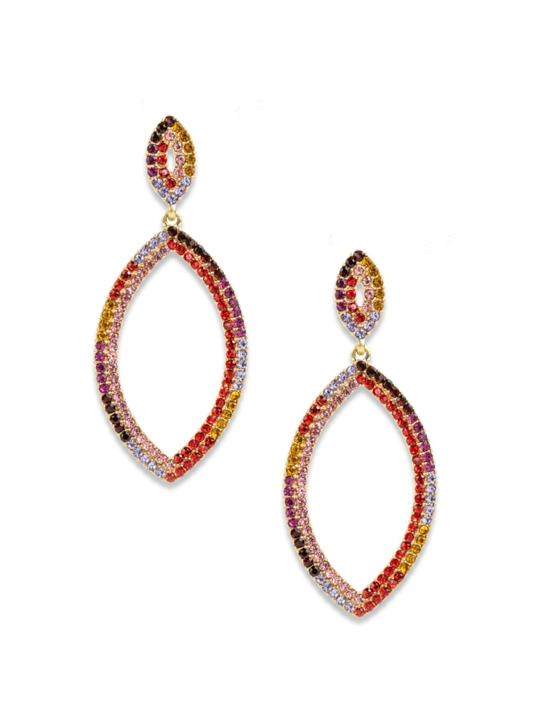 Nicole Earrings, Red